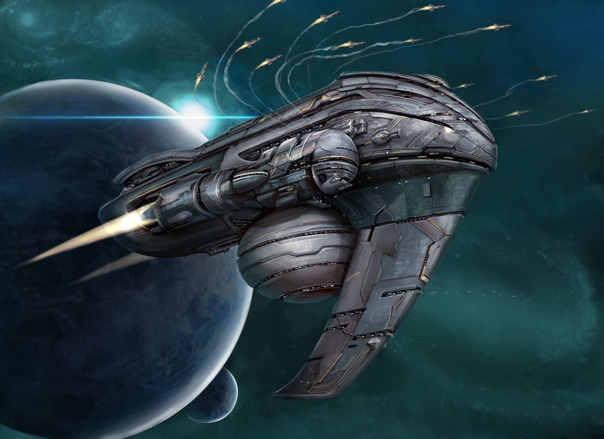 Celestine Ascendancy missile cruiser.