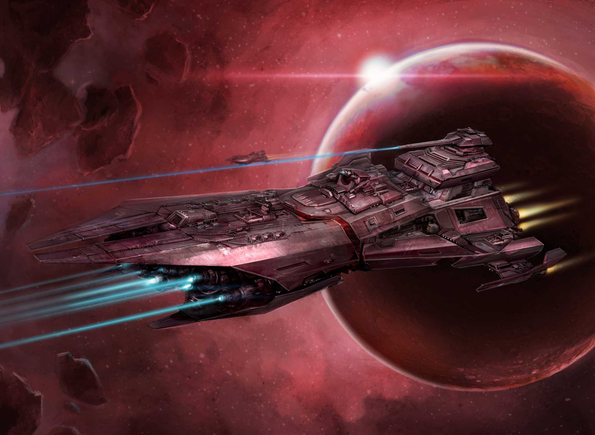 A Song Dominion battleship.