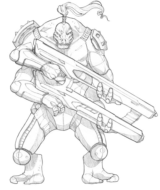 A male Loroi shock trooper.