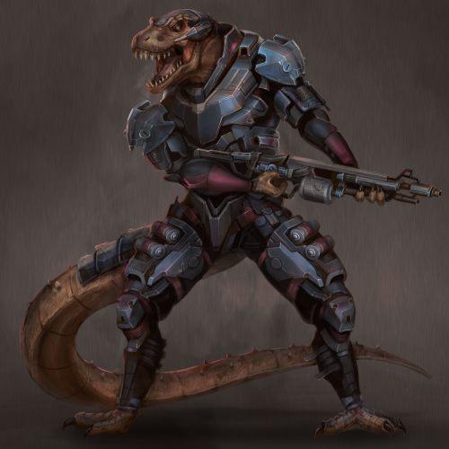 A gun-toting male Ry'nari.