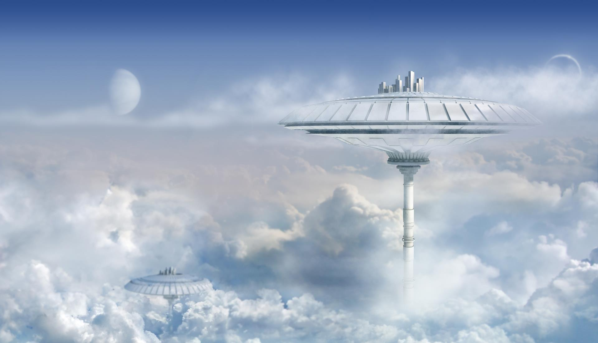 Architecture on the Nusriza homeworld.